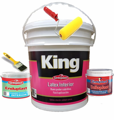 Combo Nº 14 Sinteplast Latex Interior King x 10 L.